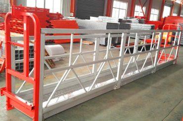 hliníkové zliatinové zavesené systémy lešenia 1000 kg 2,2 kw pre čistenie okien